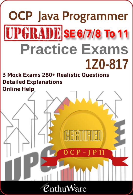 java ocp 1z0 upgrade exam certification exams mock jd v11 update