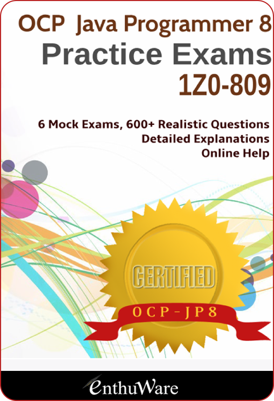 OCPJP Java Certification 1Z0-809 | Oracle Java SE8