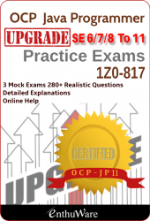 JD+ V11 UPGRADE for OCP-JP 11 (Exam Code: 1Z0-817)