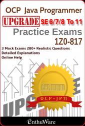 Java Certification – OCAJP 8 OCP 11 Questions Mock exams 1Z0