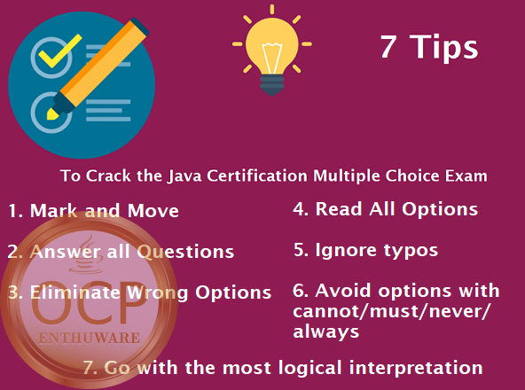 Tips For answering questions on the Java Certification Exam